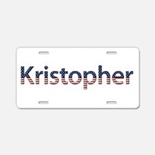 Kristopher Stars and Stripes Aluminum License Plat