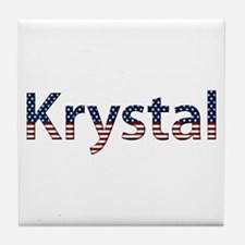 Krystal Stars and Stripes Tile Coaster