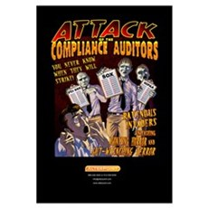 Attack of the Compliance Auditors sm Canvas Art