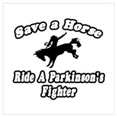 """""""Ride Parkinson's Fighter"""" Poster"""