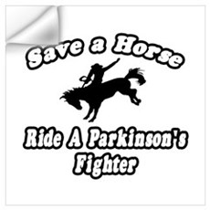 """Ride Parkinson's Fighter"" Wall Decal"