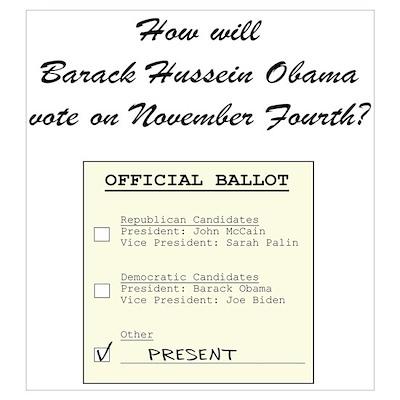 Obama's Ballot Poster