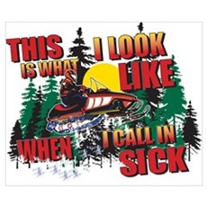 Snowmobiling is Life Live IT Poster