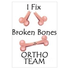 Broken Bone Team Canvas Art
