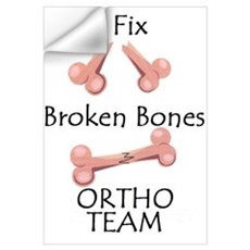 Broken Bone Team Wall Decal