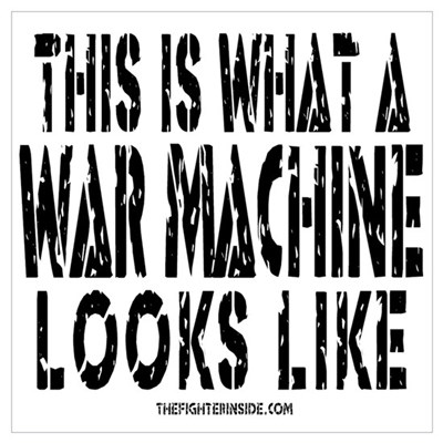 This is What a WAR MACHINE Lo Canvas Art