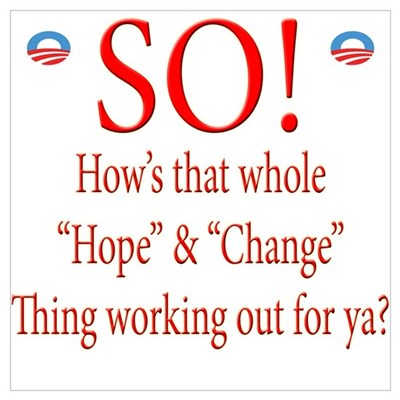 How's the Obama Hope and Chan Framed Print