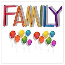 6 RAINBOW BALLOONS/FAMILY Poster