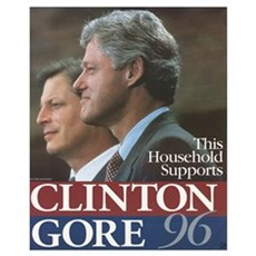 Clinton Gore 1996 Canvas Art