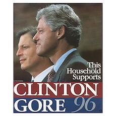 Clinton Gore 1996 Poster
