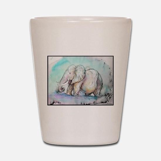 Elephant, beautiful, art, Shot Glass