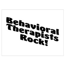 Behavioral Therapists Rock! Poster