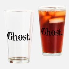 Grunge Ghost Drinking Glass