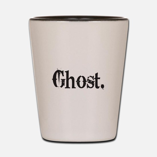 Grunge Ghost Shot Glass