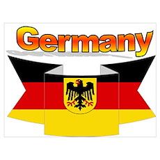 German Coa Flag Wall Art Poster
