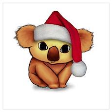 Christmas Koala Poster