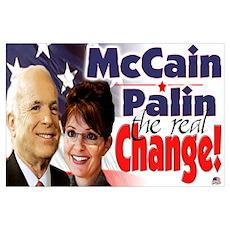 McCain Palin Real Change Poster