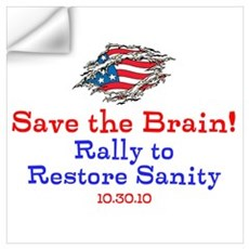 Save the Brain! Torn Flag Wall Decal