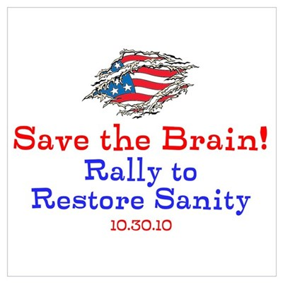 Save the Brain! Torn Flag Poster