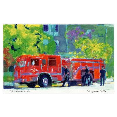 Firetruck by RD Riccoboni Poster