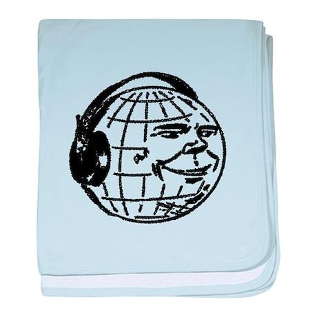DJ Earth baby blanket