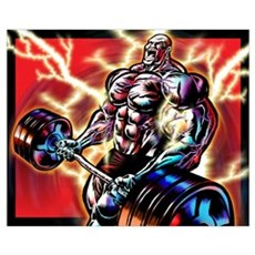 BODYBUILDING CURL Framed Print