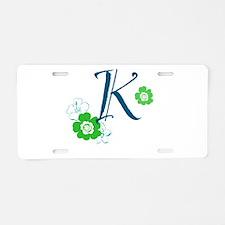 K Letter Aluminum License Plate