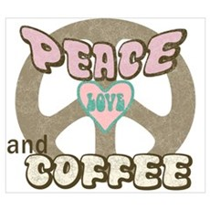 Peace Love Coffee Framed Print