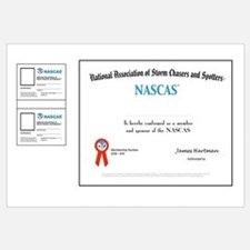 NASCAS Certificate and two wallet card blanks