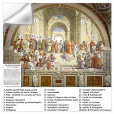 School of Athens Who's Who Wall Decal