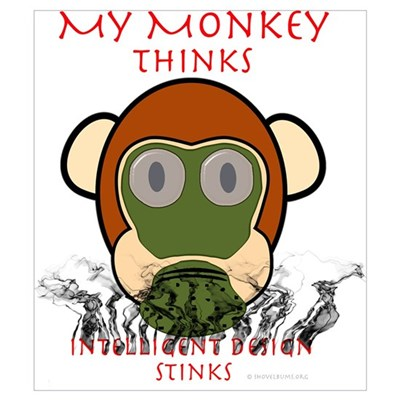 My Monkey Thinks Intelligent Design Stinks! Mini P Framed Print