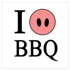 I Love BBQ Poster