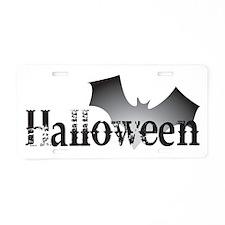 Halloween Bat Aluminum License Plate