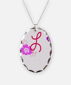 L Flowers Necklace
