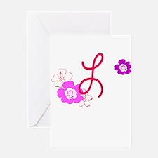 L Flowers Greeting Card