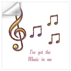 Music In Me Wall Decal