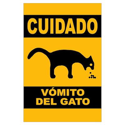 Vomito del Gato Poster