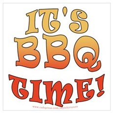 It's BBQ Time Poster