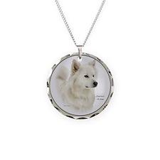 American Eskimo Dog Gifts Necklace Circle Charm