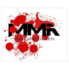 MMA Blood Splatter 01 Poster