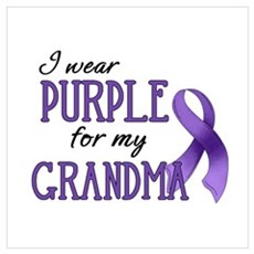 Wear Purple - Grandma Poster