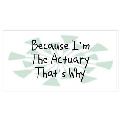 Because Actuary Poster