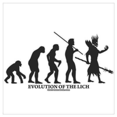 Evolution of the Lich Framed Print