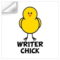 Writer Chick Wall Decal