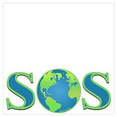 SOS earth Poster