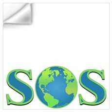 SOS earth Wall Decal