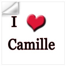 I Love (Heart) Camille Wall Decal
