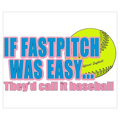 Girls Softball Poster