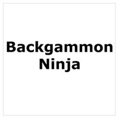 Backgammon Ninja Framed Print