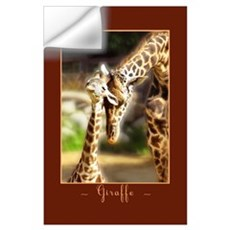 Giraffe Mom Baby Wall Decal
